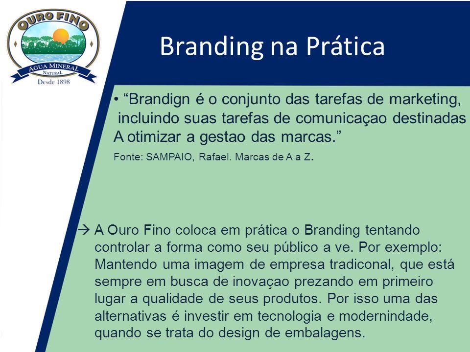 Branding na Prática • Brandign é o conjunto das tarefas de marketing,