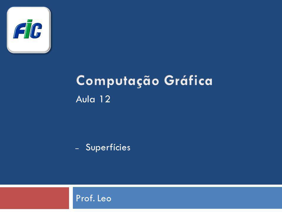 Computação Gráfica Aula 12 Superfícies Prof. Leo