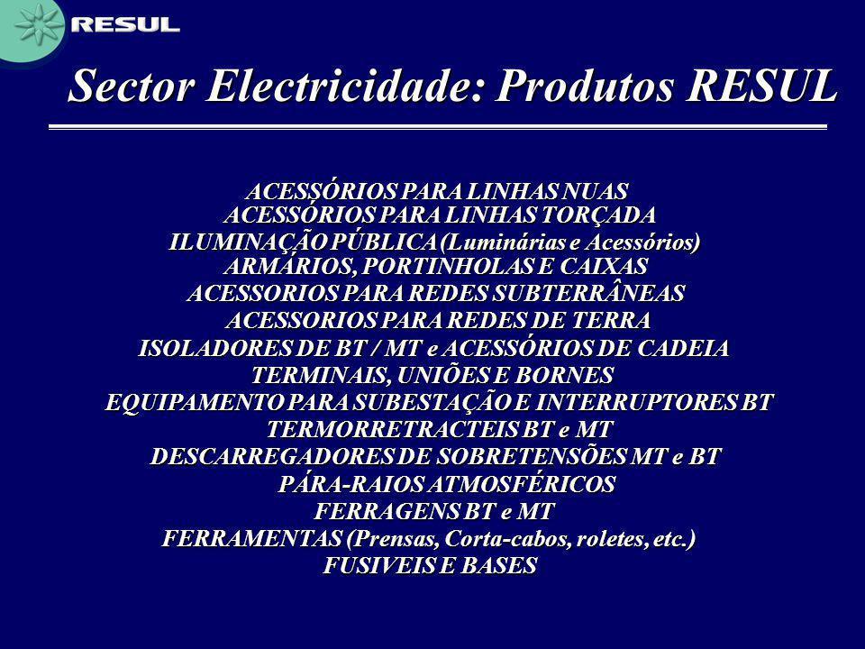 Sector Electricidade: Produtos RESUL
