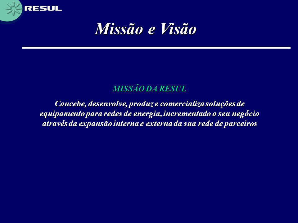 Missão e Visão MISSÃO DA RESUL