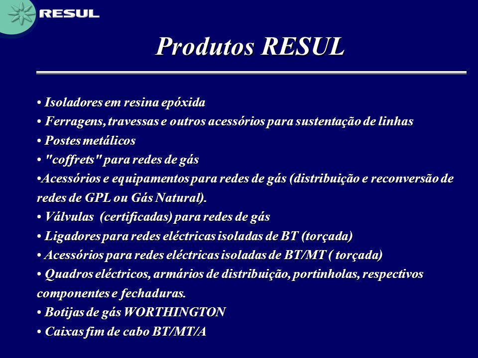Produtos RESUL Isoladores em resina epóxida