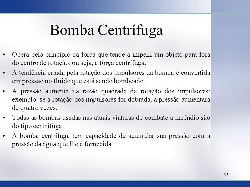 Bomba Centrífuga Opera pelo princípio da força que tende a impelir um objeto para fora do centro de rotação, ou seja, a força centrífuga.