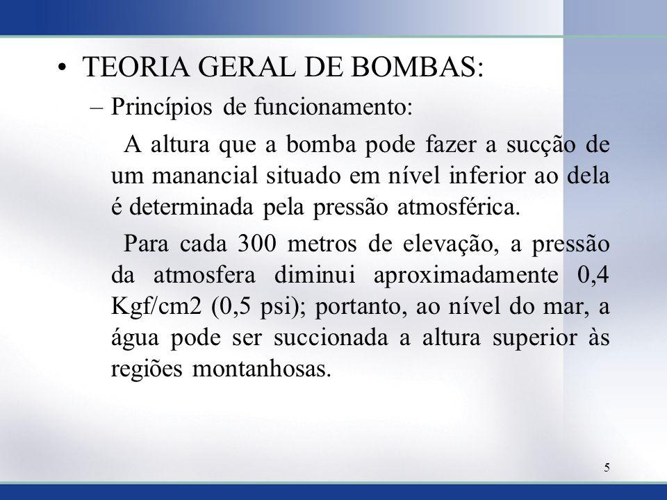 TEORIA GERAL DE BOMBAS: