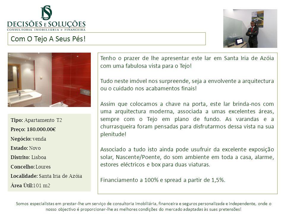 Com O Tejo A Seus Pés! Tenho o prazer de lhe apresentar este lar em Santa Iria de Azóia com uma fabulosa vista para o Tejo!