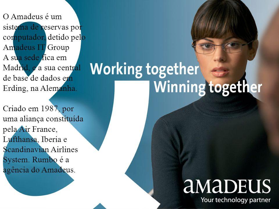 O Amadeus é um sistema de reservas por computador, detido pelo Amadeus IT Group
