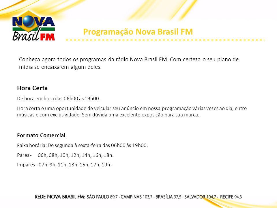 Programação Nova Brasil FM