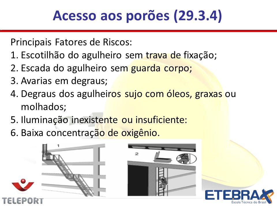 Acesso aos porões (29.3.4) Principais Fatores de Riscos: