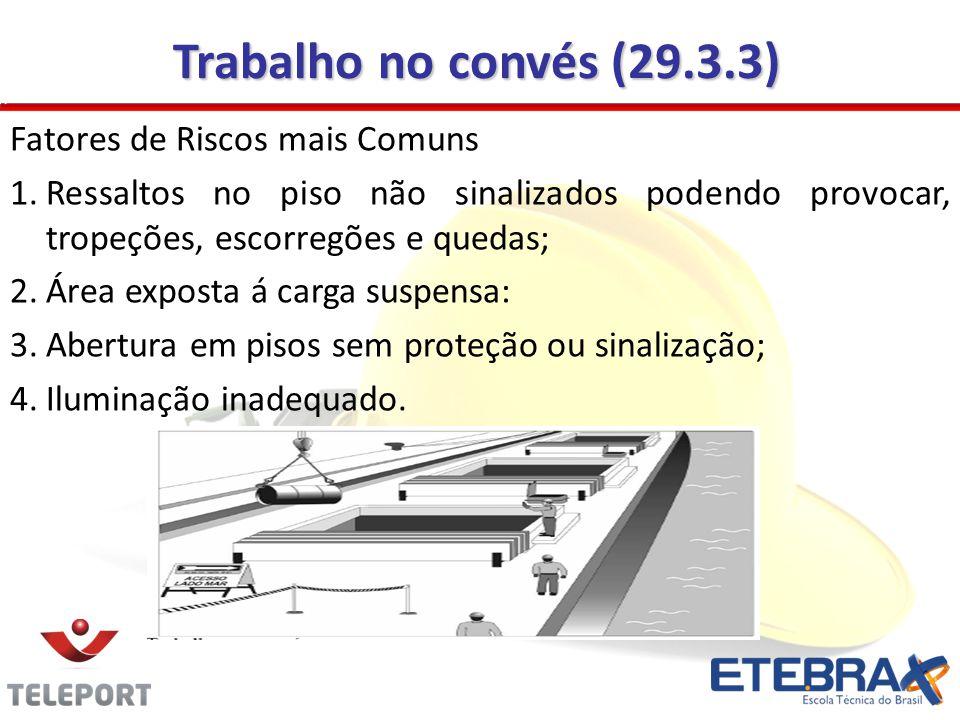 Trabalho no convés (29.3.3) Fatores de Riscos mais Comuns