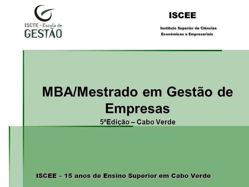 MBA/Mestrado em Gestão de Empresas 5ªEdição – Cabo Verde