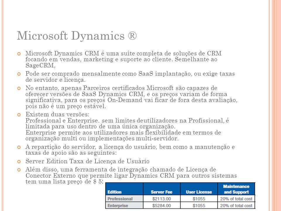 Microsoft Dynamics ®