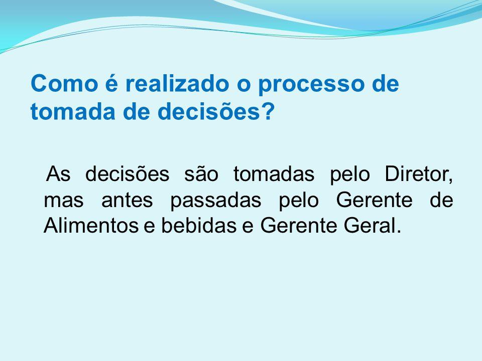 Como é realizado o processo de tomada de decisões