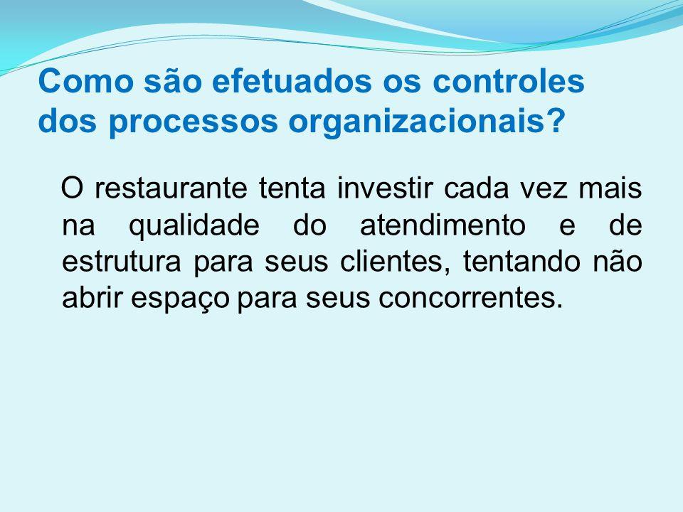 Como são efetuados os controles dos processos organizacionais