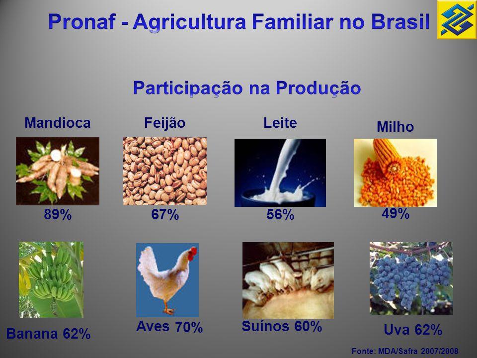 Pronaf - Agricultura Familiar no Brasil Participação na Produção