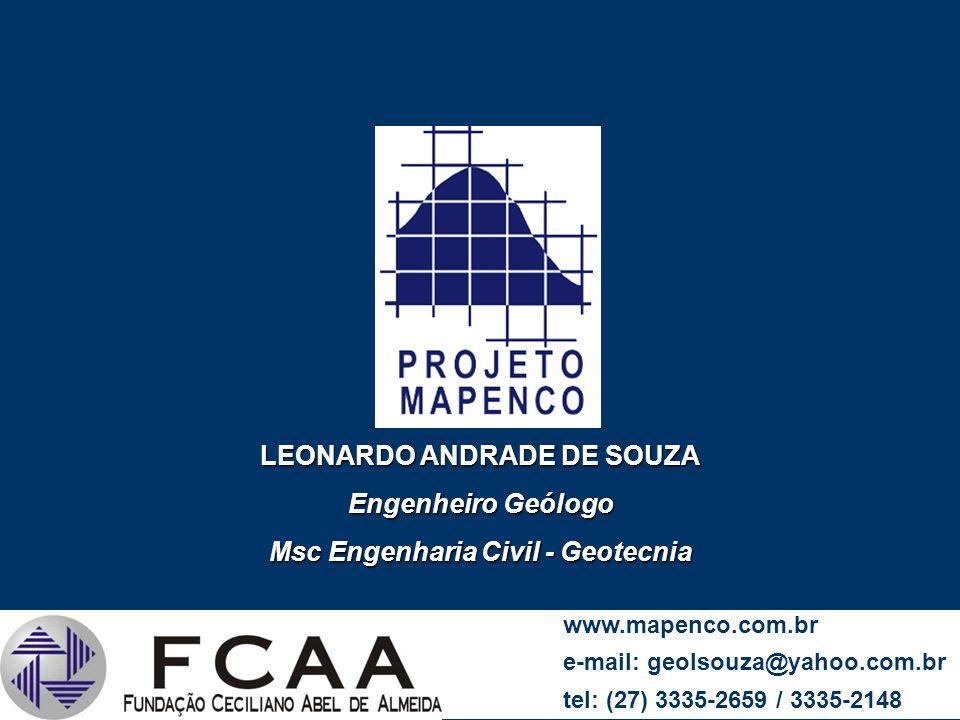 LEONARDO ANDRADE DE SOUZA Msc Engenharia Civil - Geotecnia