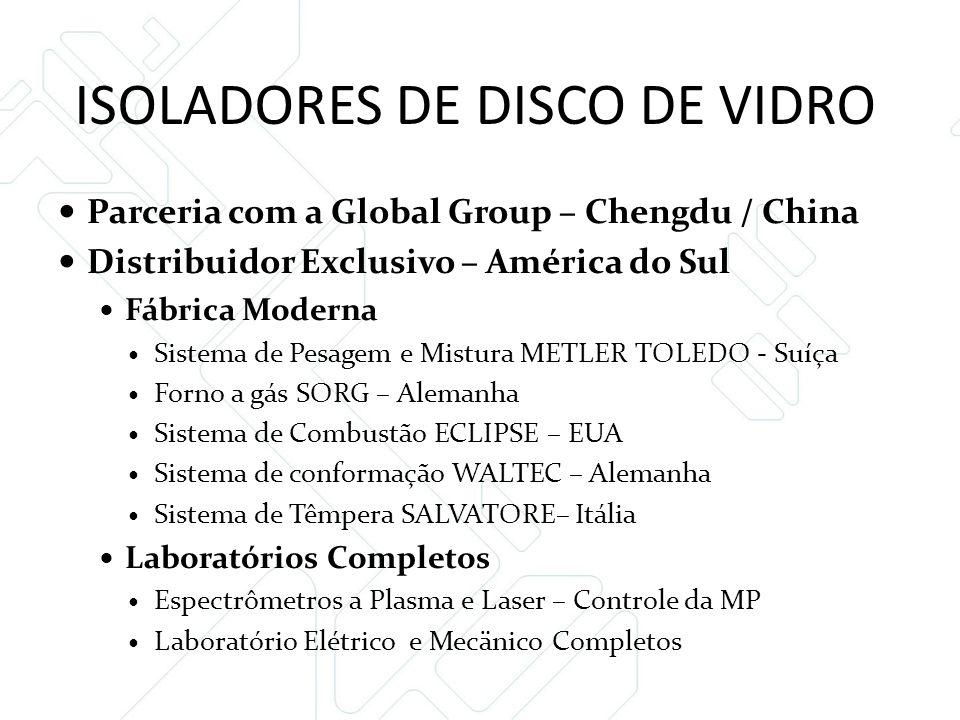 ISOLADORES DE DISCO DE VIDRO