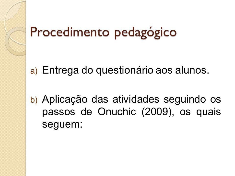 Procedimento pedagógico