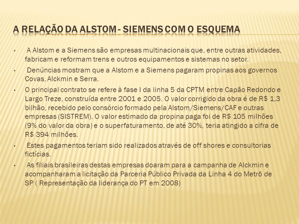A relação da ALSTOm - Siemens com o esquema
