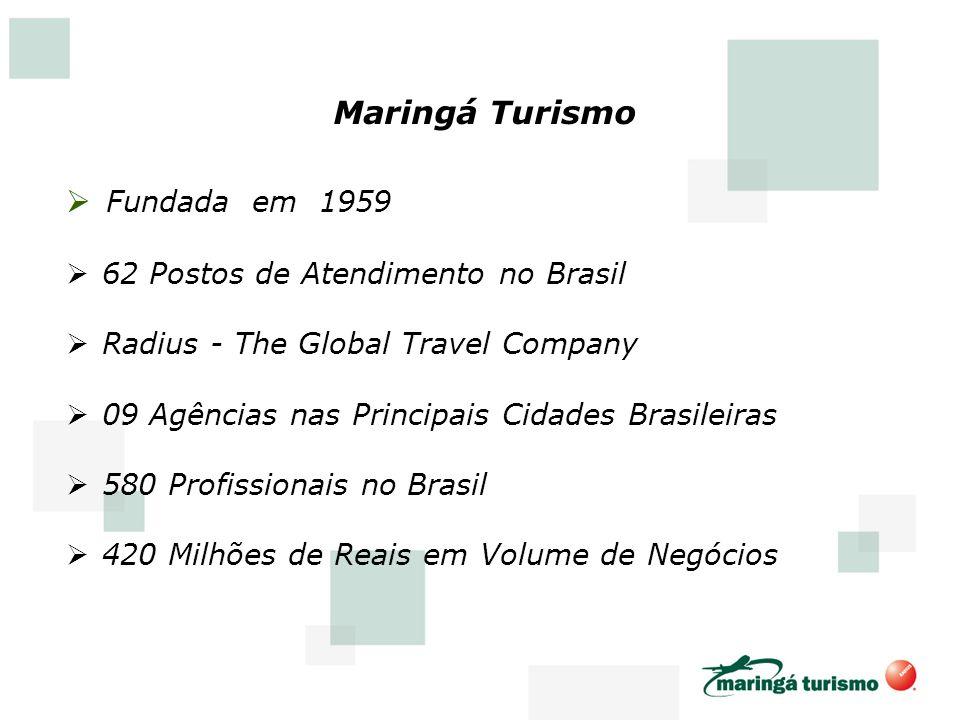 Maringá Turismo Fundada em 1959 62 Postos de Atendimento no Brasil