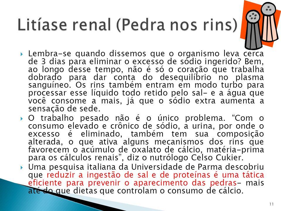 Litíase renal (Pedra nos rins)
