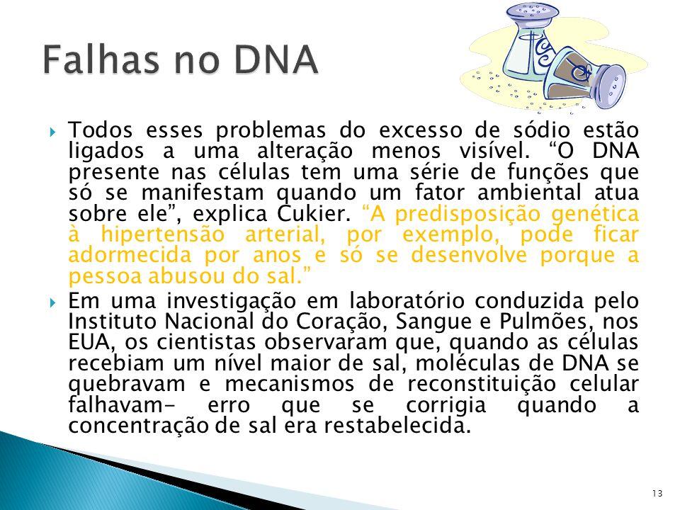 Falhas no DNA