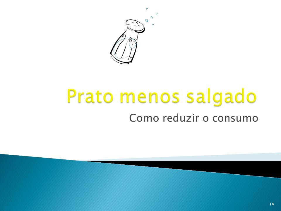 Prato menos salgado Como reduzir o consumo