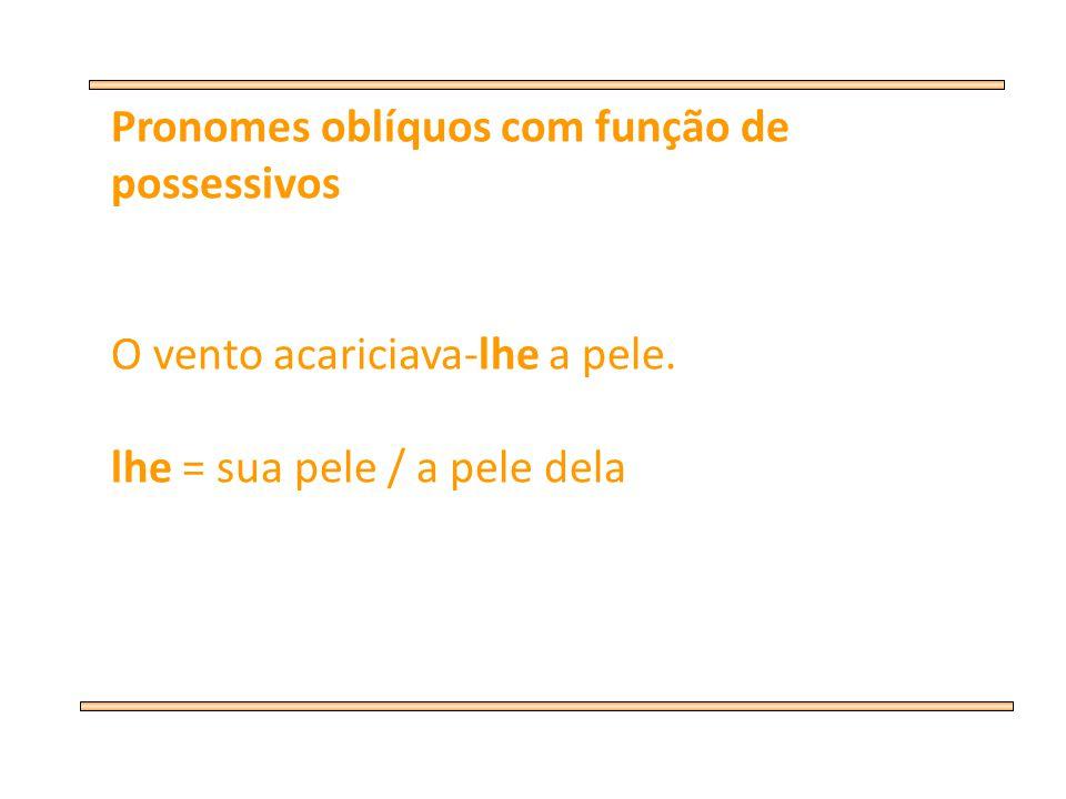 Pronomes oblíquos com função de possessivos