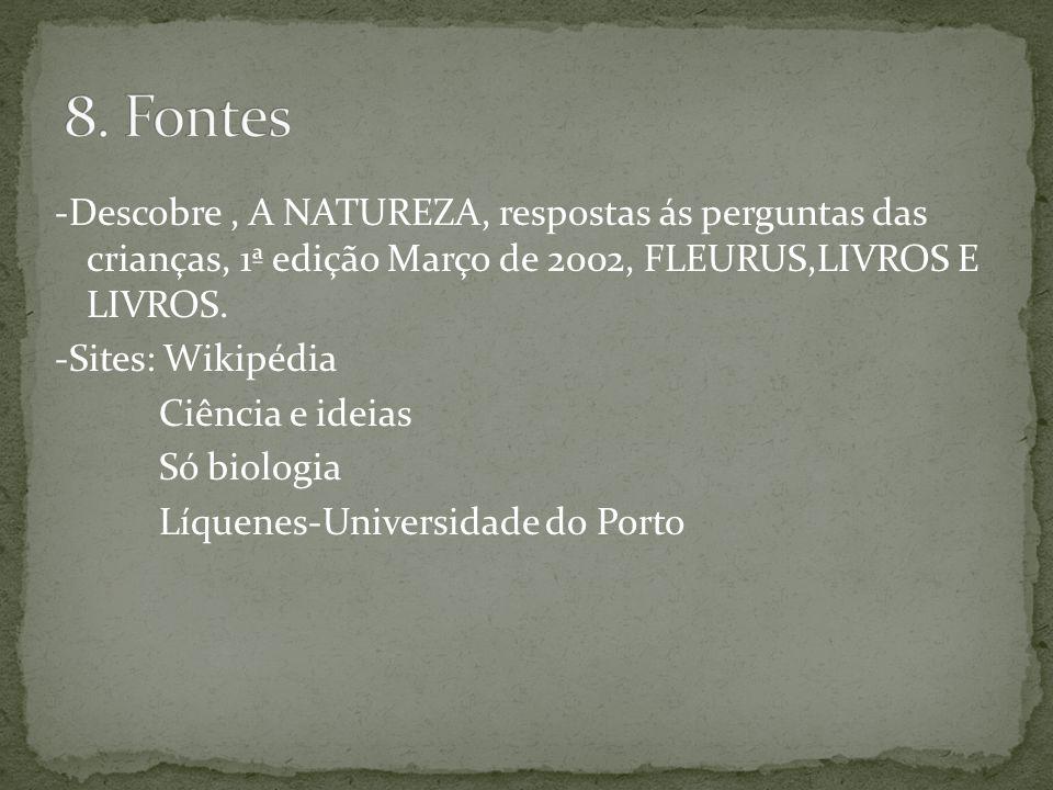8. Fontes