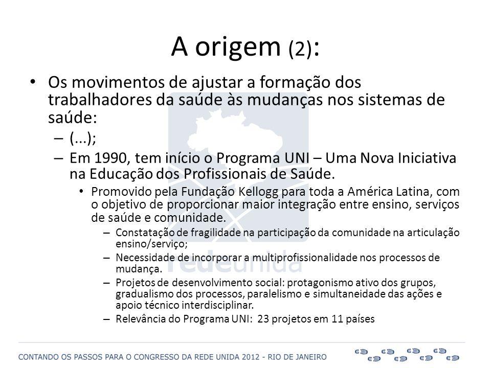 A origem (2): Os movimentos de ajustar a formação dos trabalhadores da saúde às mudanças nos sistemas de saúde: