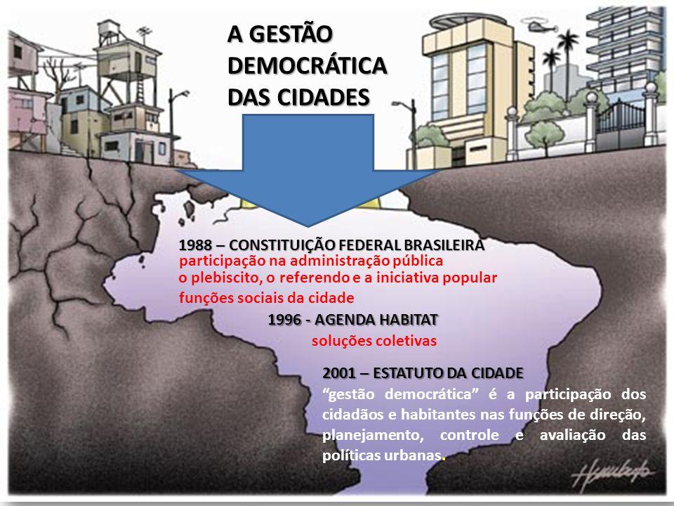 A GESTÃO DEMOCRÁTICA DAS CIDADES