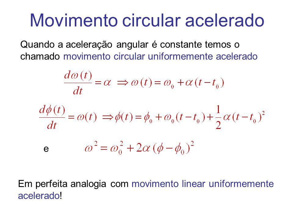 Movimento circular acelerado