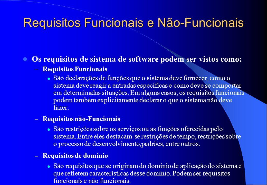 Requisitos Funcionais e Não-Funcionais