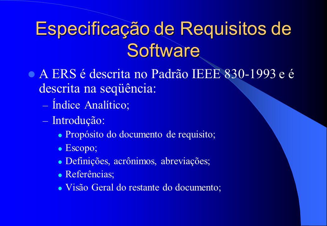 Especificação de Requisitos de Software