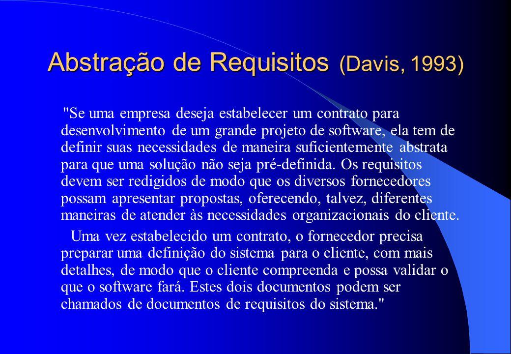 Abstração de Requisitos (Davis, 1993)