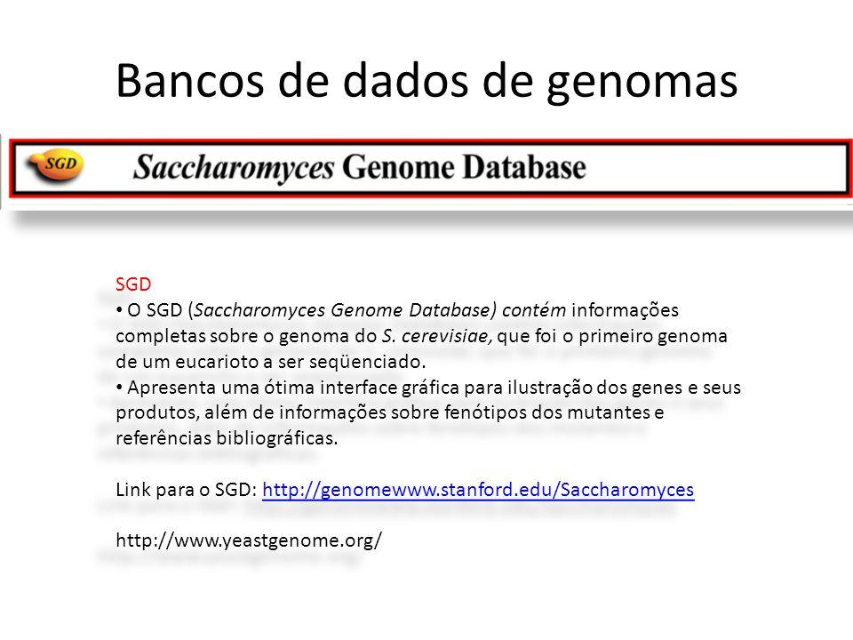 Bancos de dados de genomas