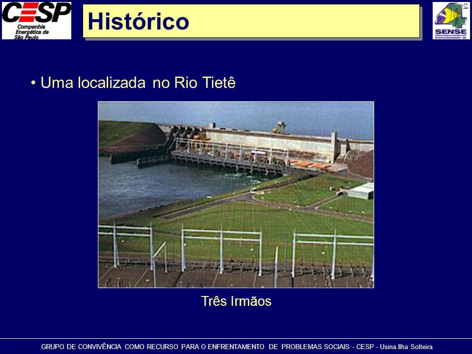Histórico Uma localizada no Rio Tietê Três Irmãos