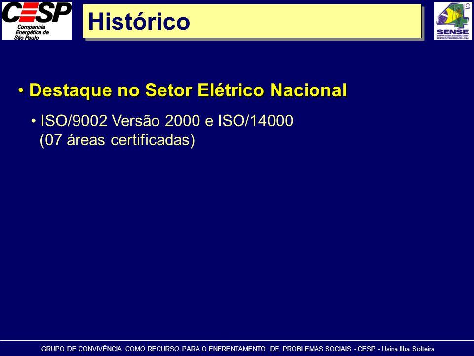 Histórico Destaque no Setor Elétrico Nacional