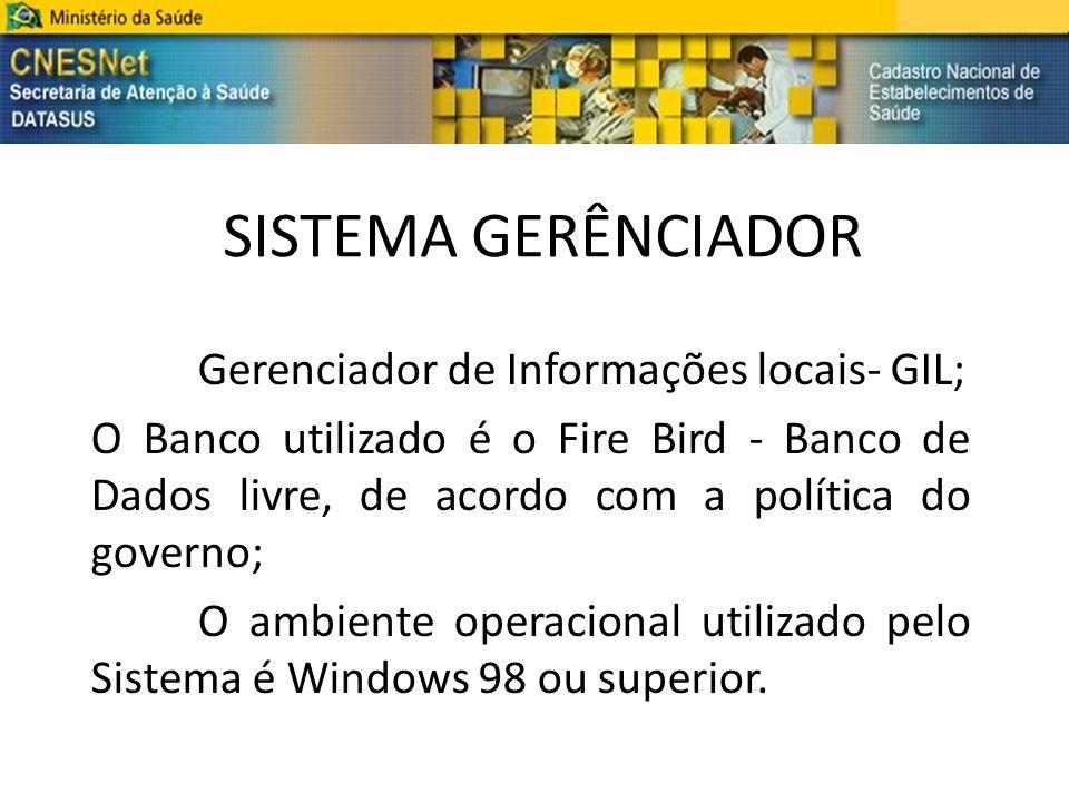 SISTEMA GERÊNCIADOR Gerenciador de Informações locais- GIL;