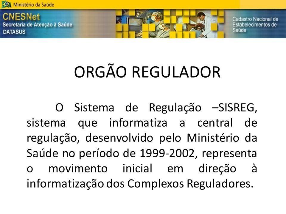 ORGÃO REGULADOR