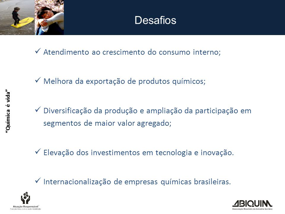 Desafios Atendimento ao crescimento do consumo interno;