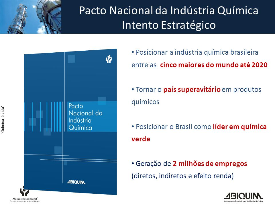 Pacto Nacional da Indústria Química Intento Estratégico