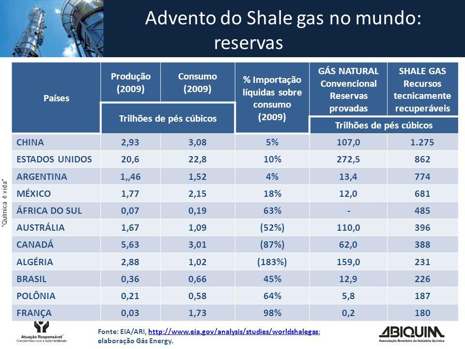 Advento do Shale gas no mundo: reservas