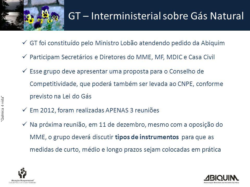 GT – Interministerial sobre Gás Natural