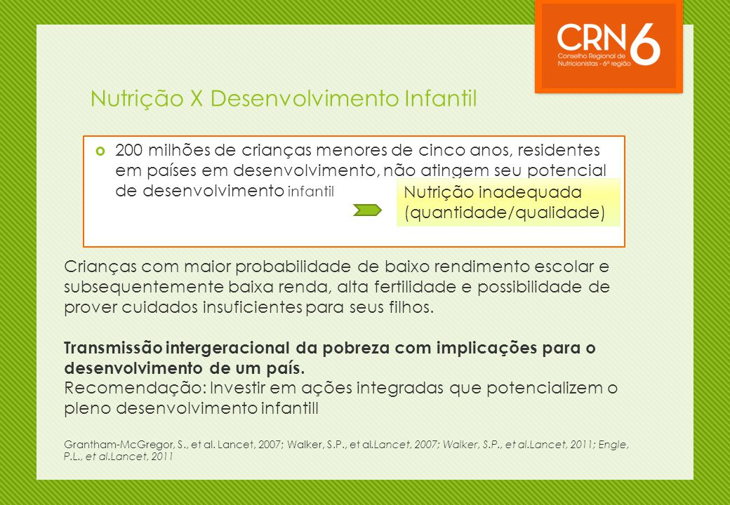 Nutrição X Desenvolvimento Infantil