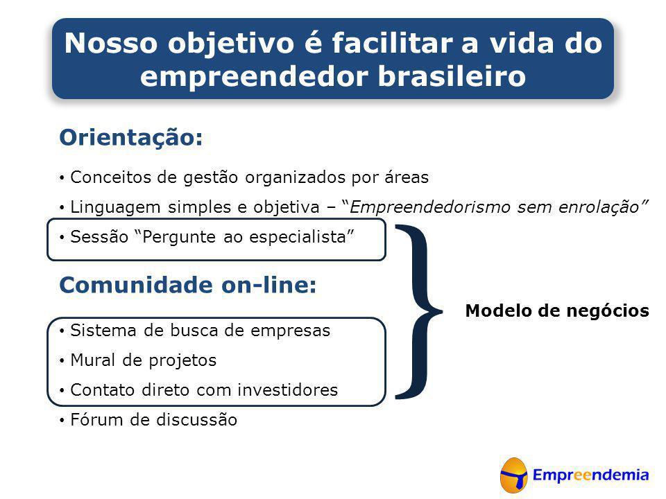 Nosso objetivo é facilitar a vida do empreendedor brasileiro
