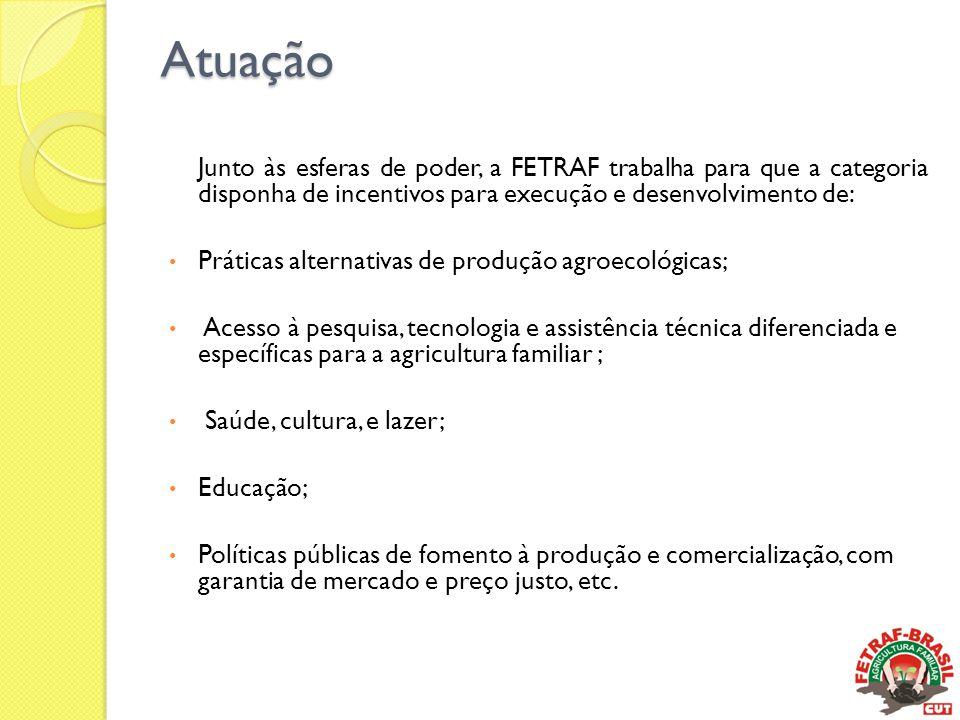 Atuação Junto às esferas de poder, a FETRAF trabalha para que a categoria disponha de incentivos para execução e desenvolvimento de: