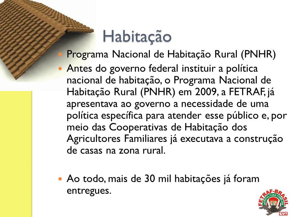 Habitação Programa Nacional de Habitação Rural (PNHR)