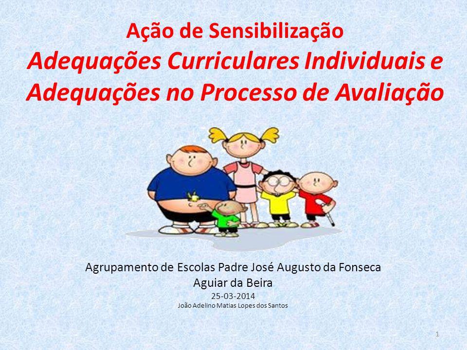 Ação de Sensibilização Adequações Curriculares Individuais e Adequações no Processo de Avaliação