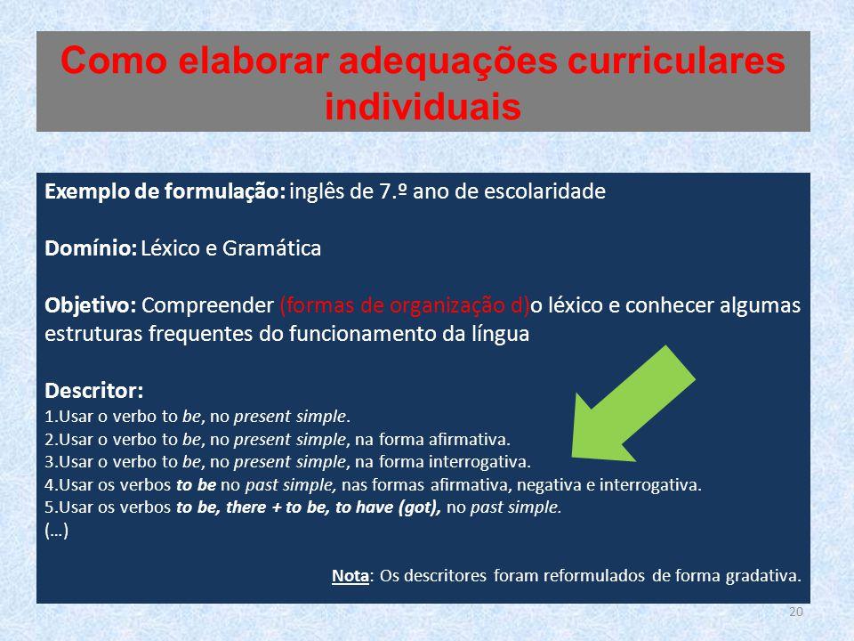 Como elaborar adequações curriculares individuais
