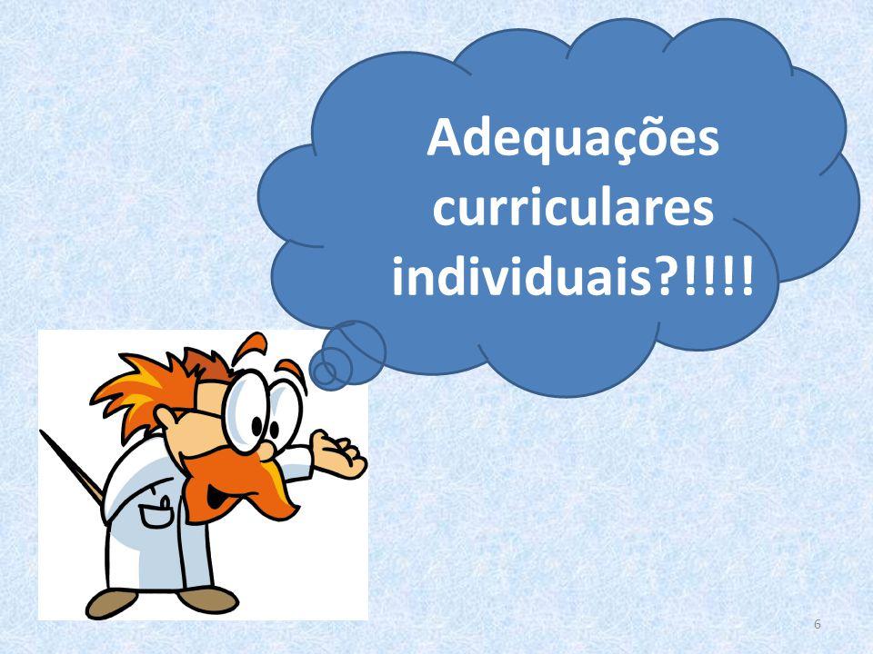 Adequações curriculares individuais !!!!