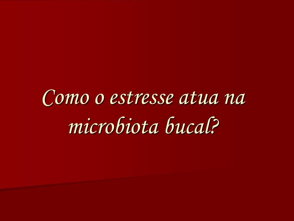 Como o estresse atua na microbiota bucal